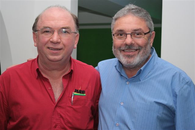 Vereador Lavino, presidente do PMDB Ilhota e Paulo França