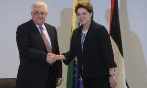 Dilma Rousseff e o presidente da Autoridade Nacional Palestina, Mahmoud Abbas