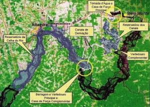 Mapa de Belo Monte