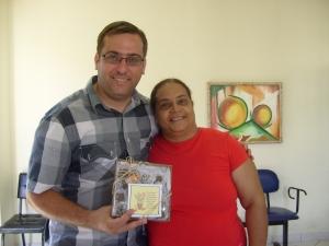 Dialison com a diretora pedagógica Maura da escola municipal Domingos José Machado