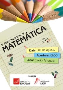 Logo oficial da Secretaria de Educação da III Feira de Matmática