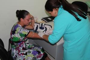 Vacinação na unidade de saúde central