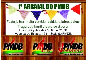 Convite Arraial do PMDB