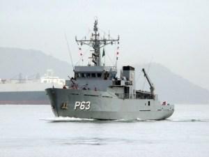 Navio da Marinha chega a Balneário Camboriú para o Anjo da Guarda Fest