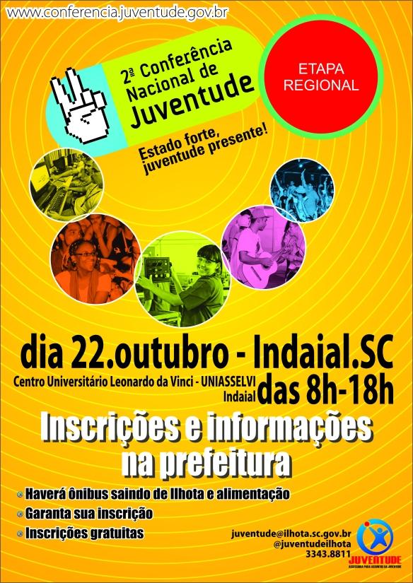 Cartaz da conferência regional de juventude [Ilhota]