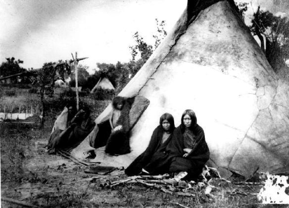 Acampamento arapaho, 1870