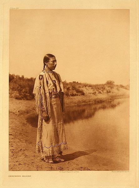 Cheyenne fotografada por Edward S. Curtis