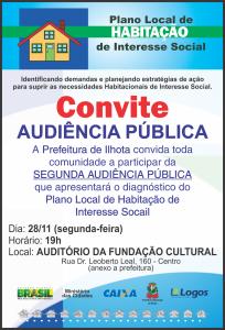 Convite - Audiência Pública PLHIS