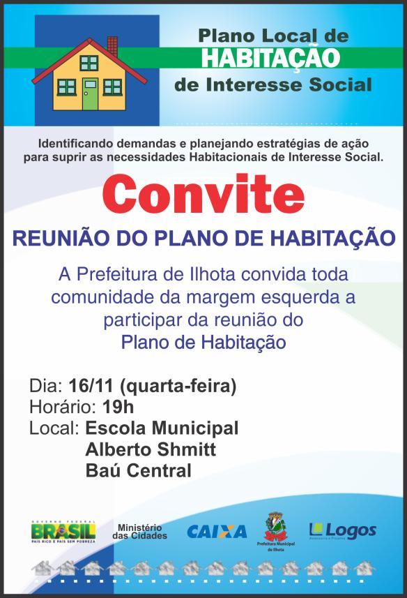 Convite - Reunião Margem Esquerda PLHIS