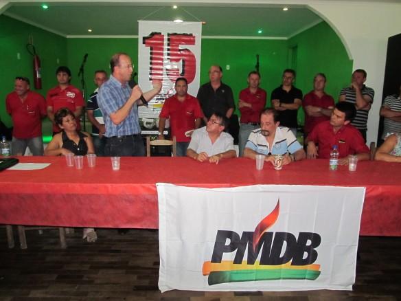 Convenção do PMDB de Ilhota para escolha do novo diretório municipal
