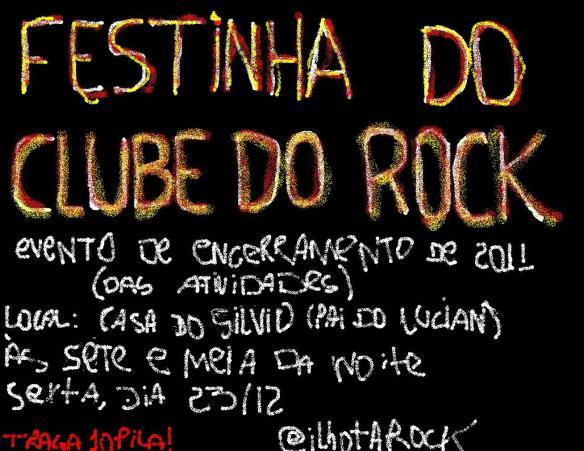 Convite Clube do Rock