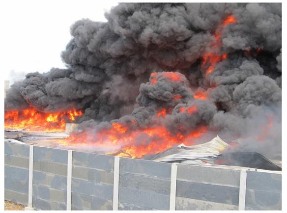 Bombeiros Voluntários de Ilhota ajudam no combate a incêndio em Itajaí