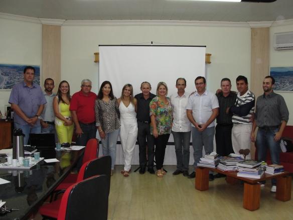 membros da CISP com os convidados Elizângela Bosco e Luciano Batista