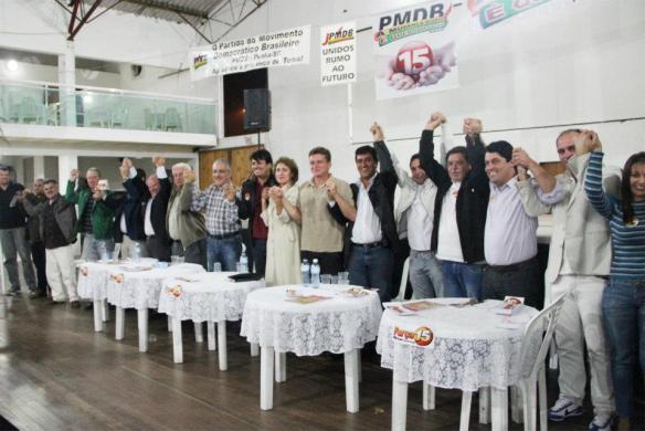 Com apoio das lideranças estaduais PMDB de Penha define o pré-candidato a prefeito para o pleito de 2012