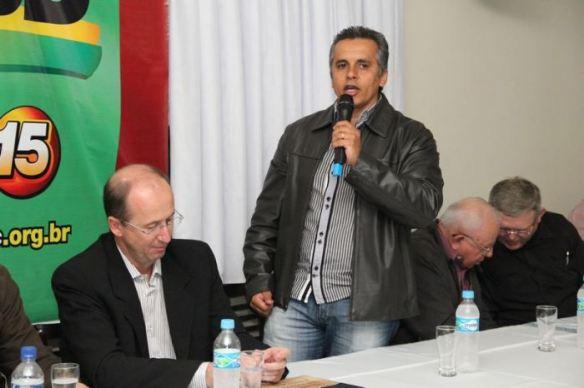 Dr Lucas no encontro do PMDB de Gaspar onde reúniu mais de 200 pessoas na Churrascaria Toni