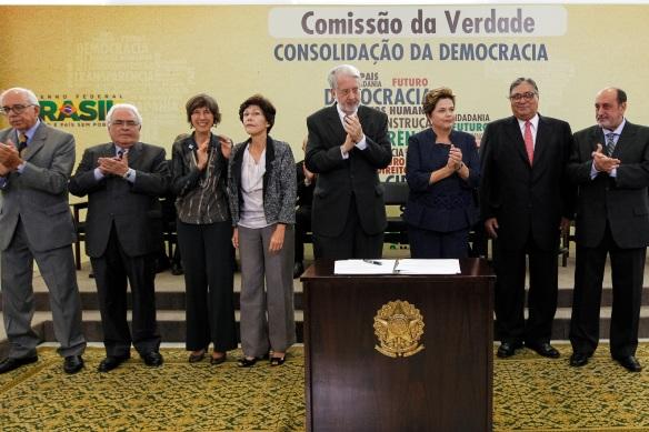 Presidenta Dilma Rousseff durante cerimônia de instalação da Comissão Nacional da Verdade, no Palácio do Planalto. Foto: Roberto Stuckert Filho/PR