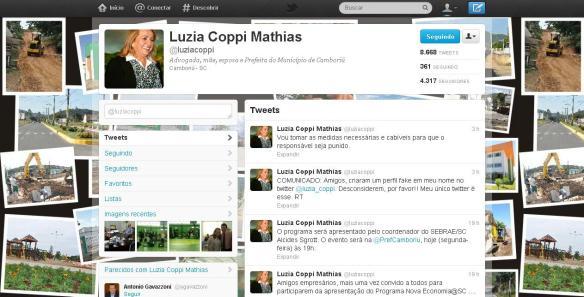 Twitter da prefeita Luzia