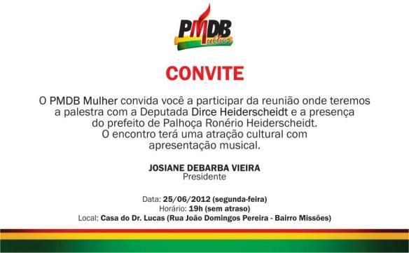 Convite do PMDB Mulher