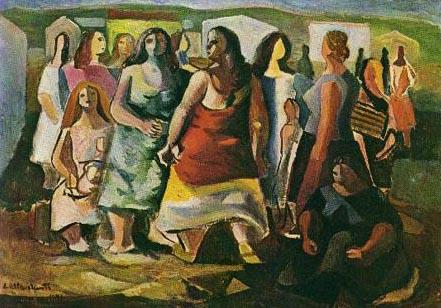 Di Cavalcanti - Mulheres protestando