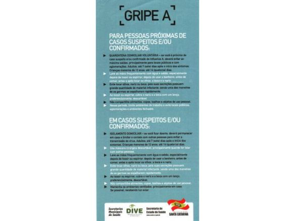 Folder sobre a Gripe A