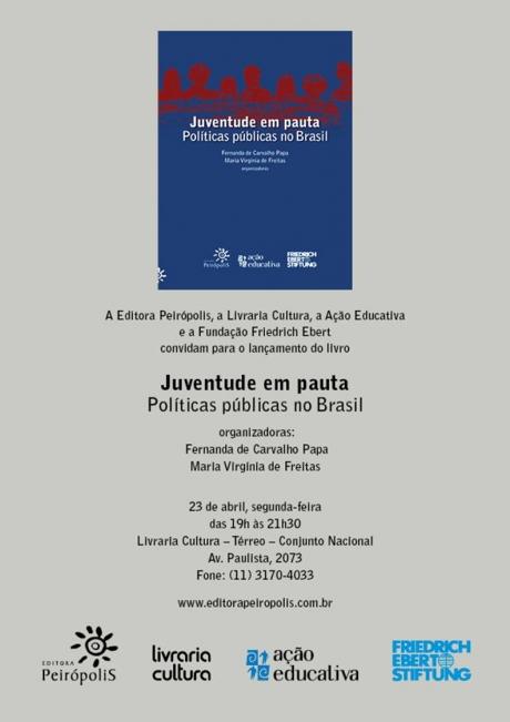 Livro sobre juventude aborda desafios nas práticas de políticas públicas