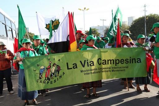 Camponeses do mundo se mobilizar contra o capitalismo verde no Rio