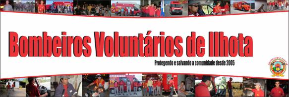 Banner dos Bombeiros Voluntários de Ilhota no Facebook