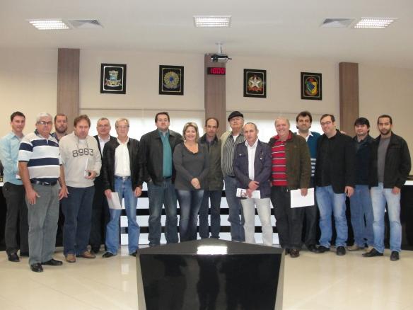 Membros da CISP reunidos na eleição e posse da nova diretoria na Câmara de Vereadores de Itapema