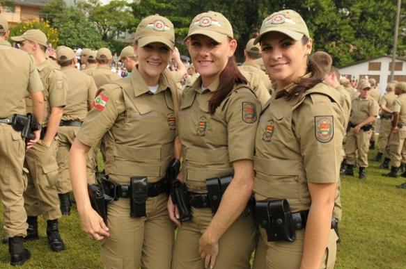 Policial Militar feminino catarinense