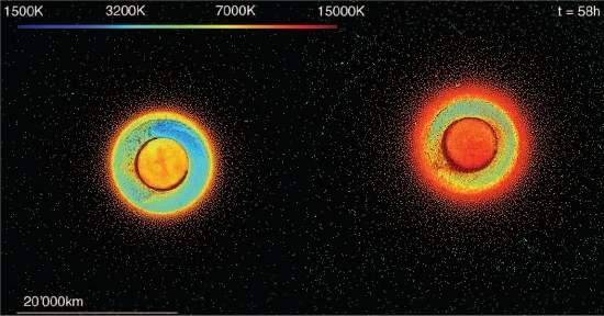 A colisão teria resultado em um disco de destroços muito mais quente do que o calculado até agora. [Imagem: Reufer et al.]