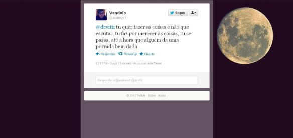 Ameça do Vandelinho via twitter @andrevs1