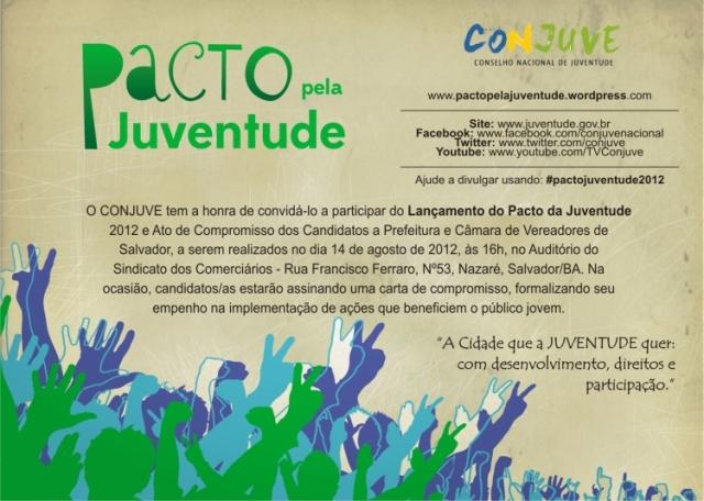 Convite Pacto pela Juventude