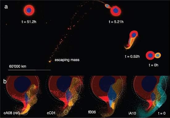 Simulações computadorizadas e análises de isótopos de diferentes elementos deram origem a uma nova teoria sobre a formação da Lua.[Imagem: Reufer et al.]