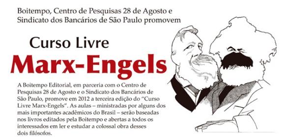 Transmissão ao vivo pela internet do III Curso Marx-Engels