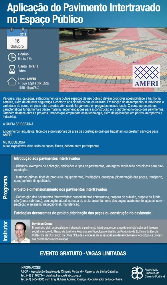 AMFRI promove capacitação sobre Pavimento Intertravado