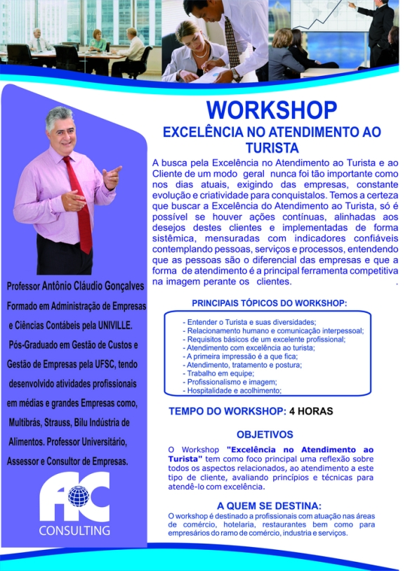 Workshop excelência no atendimento ao turista