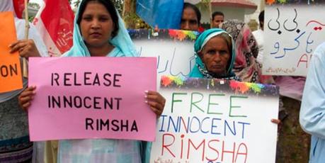 Pedimos que garanta a segurança e liberdade de Rimsha, uma garota com deficiência mental
