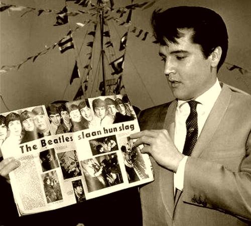 Elvis Presley and Beatle