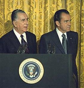 O ditador brasileiro Emílio Garrastazu Médici e o presidente dos EUA Richard Nixon