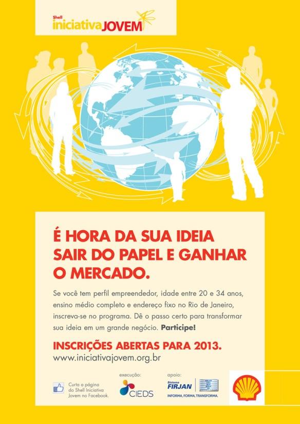 Inscrições Abertas - Shell Iniciativa Jovem 2013