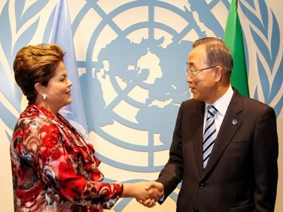 Presidenta Dilma com  Secretário-Geral da ONU, Ban Ki-moon