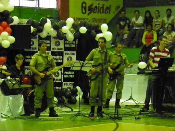 A banda da polícia militar de sc