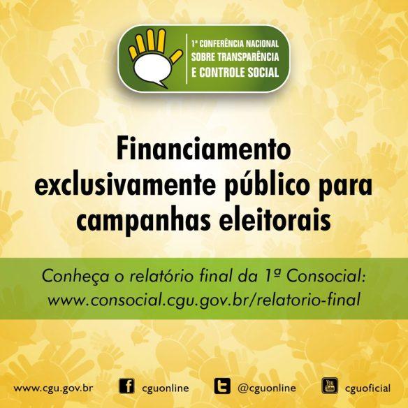 Financiamento exclusivamente público para campanhas eleitorais