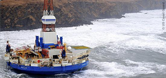 Plataforma da Shell encalha no Alasca
