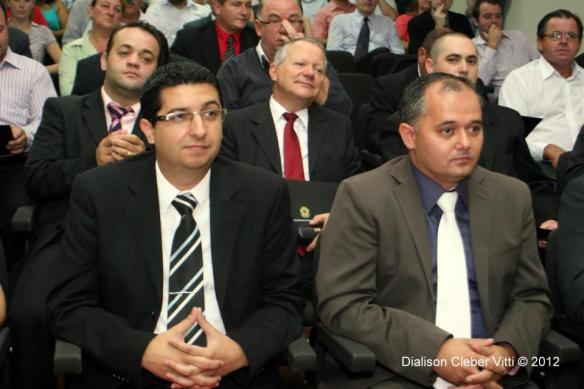 Prefeito Daniel Bosi e seu vice Lauri Adão Júnior