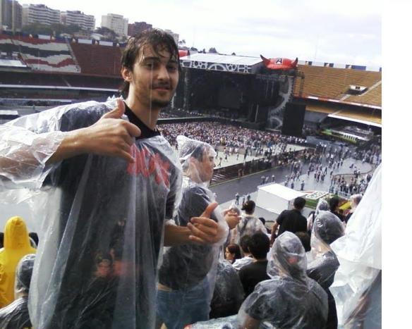 Meu amigo Silas no show do AC/DC em São Paulo