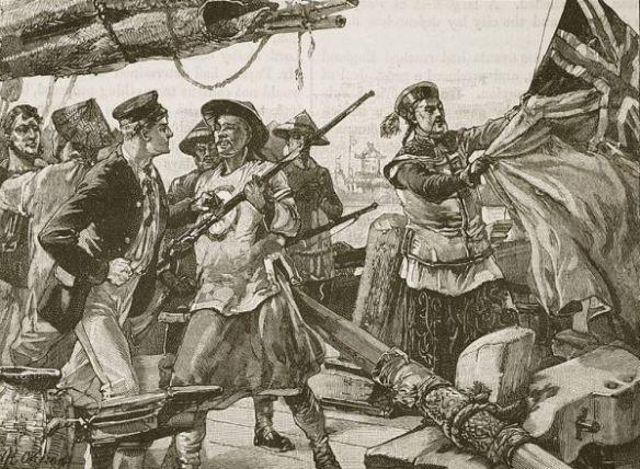 Suspeito de contrabando, navio britânico Arrow é apreendido por soldados chineses