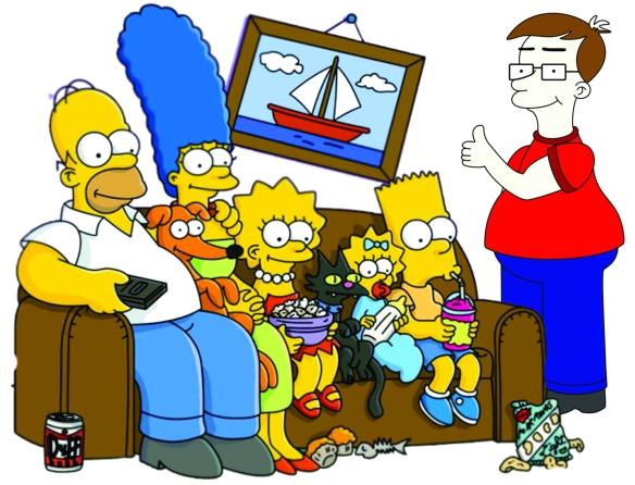 dcvitti com a a família Simpsons