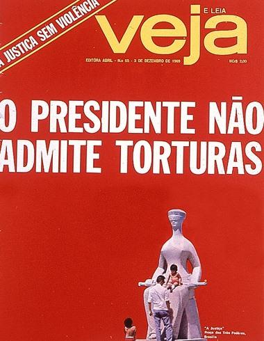 Capa da revista Veja de 3 dezembro de 1969