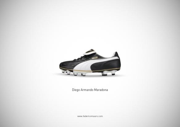 Famous Shoes - Diego Armando Maradona